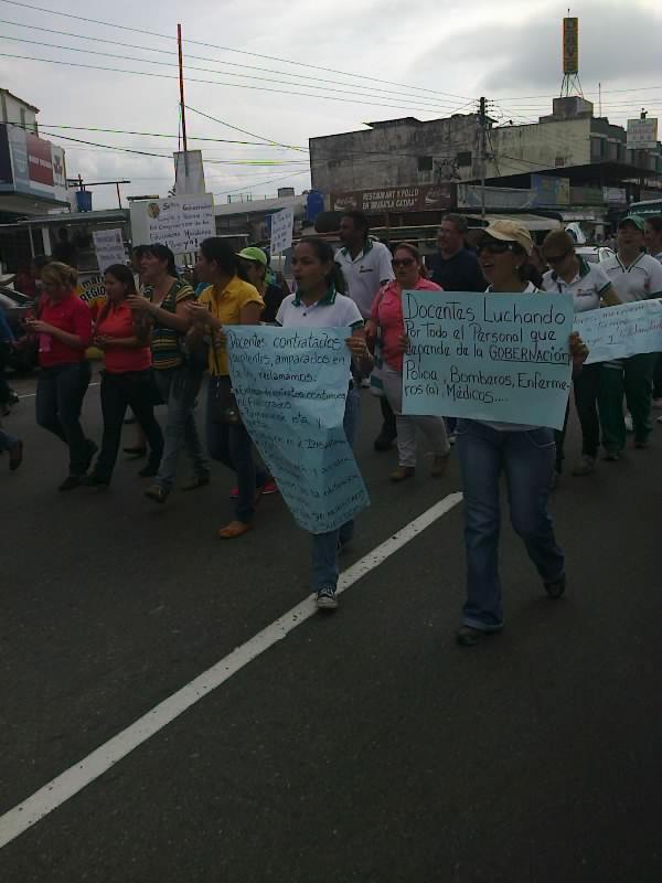 Protesta docentes en El Vigia 13 noviembre 2012